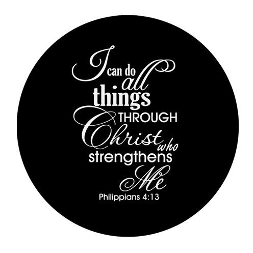 """Bible Quotes-I can do all things THROUGH Christ who strengthens Me Philippians 4:13 Cloth Cover Round Mouse Pad 7.87""""x7.87"""""""