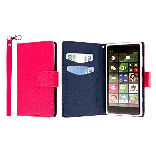 Nokia Lumia 830 Wallet Case, MPERO FLEX FLIP Wallet Case - Hot Pink
