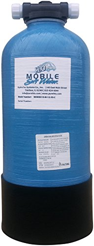 Mobile-Soft-Water 12,800 gr RV Portable & Manual Softener w/salt port, includes Lead Free NSF 61 certified connections, used by Recreational vehicle enthusiasts, Boaters, and highly mobile peoplepl
