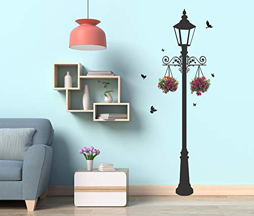 Studio Curate Large Size Wall Sticker for Living Room, Bedroom, Hall, Kitchen Decor | London Lamp...