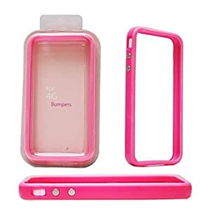 Elonbo A7M Solid Color Design TPU Bumper Frame Case for iPhone 4/4S(Assorted Colors) , White