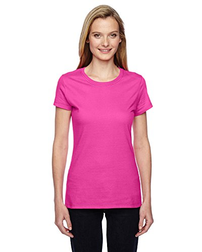 Fruit of the Loom - Camiseta - para mujer Cyber Pink