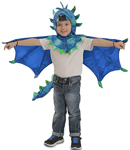 Princess Paradise Kids Sully Dragon Hooded Cape Costume, Small/Medium, Blue]()
