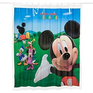 Image Unavailable Not Available For Colour Mickey Mouse Clubhouse Vinyl Shower Curtain
