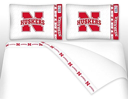 University of Nebraska Microfiber Sheet Set (Queen) (Pillowcase Huskers Nebraska)