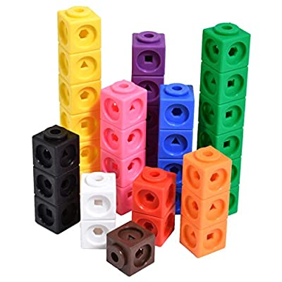 Edx Education Math Cubes - Set of 100 - Linking Cubes For Early Math - Connecting Manipulative For Preschoolers Aged 3+ and Elementary Aged Kids: Industrial & Scientific