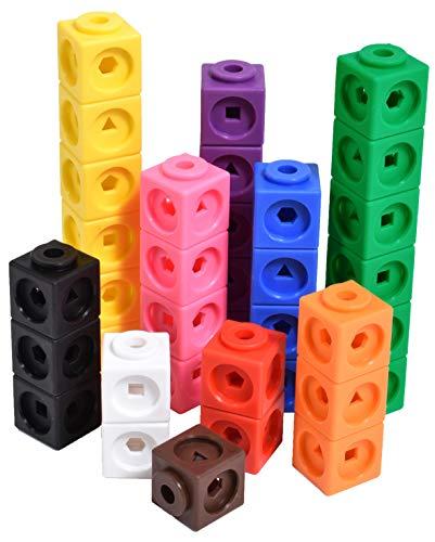 [해외]Edx Education 수학 큐브 - 100개입 세트 - 조기 수학용 연결 큐브 - 3세 미취학 아동을 위한 연결 조작 / Edx Education 수학 큐브 - 100개입 세트 - 조기 수학용 연결 큐브 - 3세 미취학 아동을 위한 연결 조작