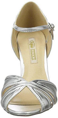 Buffalo Shoes Rk 1212-99 Metallic Pu, Sandalias con Cuña para Mujer Plateado (Silver)