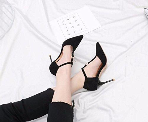 GTVERNH-Herr Ronald Sexy Und 9 cm cm cm Schuhe Mit Hohen Absätzen Die Ehe Tipps Sexy T-Förmig Geschlitzte Hohlen Fein Mit Einzelne Schuhe 0c80d1