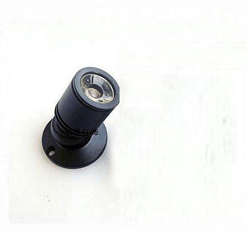Jorunhe 1w White LED Mini Surface Mounted Light Jewelry Cabinet Lamp Spotlight Ac85-265v (Black White Light (1 Lamp Mini)