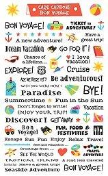 Bon Voyage Card Captions Scrapbook Stickers 15433 Amazoncouk