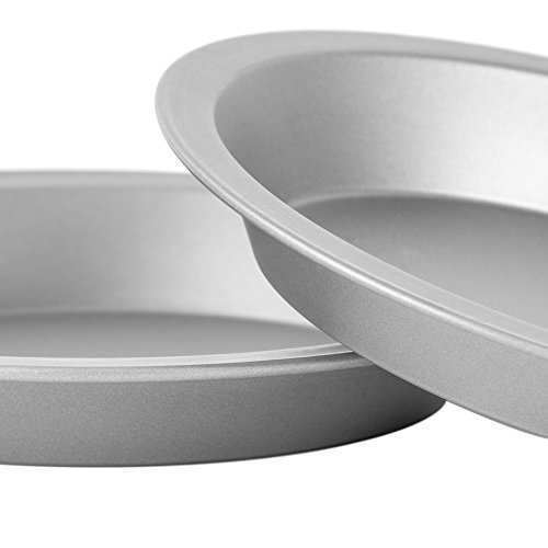 """OvenStuff Non-Stick 9"""" Pie Pans, Set of Two - American-Made, Non-Stick Pie Baking Pan Set, Easy to Clean by G & S Metal Products Company (Image #1)"""