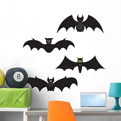 Wallmonkeys Set Halloween Bats Wall Decal Sticker Set