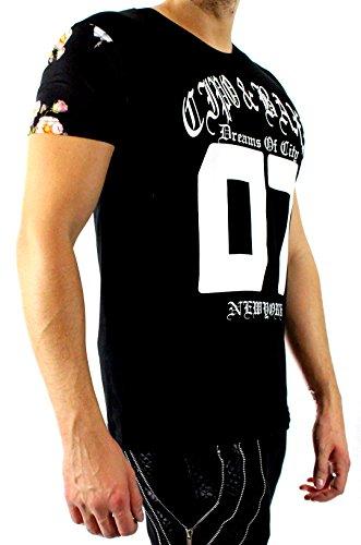 CIPO & BAXX Herren T-shirt Player 07 Schwarz