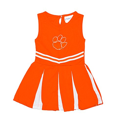 Clemson Tigers NCAA Newborn Infant Baby Cheerleader Bodysuit Dress (0-3 Months) Orange
