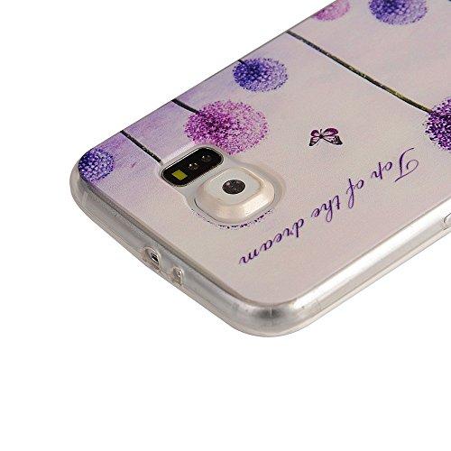 OuDu Funda para Samsung Galaxy S6 Carcasa Protectora Caso Silicona TPU Funda Suave Soft Silicone Case Cover Bumper Funda Ultra Delgado Carcasa Flexible Ligero Caja Anti Rasguños Casco Anti Choque - Di