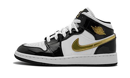 Jordan Air 1 Mid Se (Gs) (Black/Metallic Gold-White, 4Y)]()