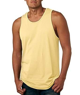Next Level Apparel Men's Jersey Tank Top, Banana Cream, Small