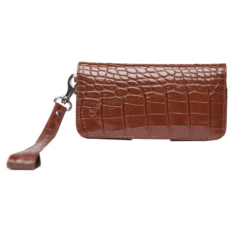 MAPi Cases Nicea For iPhone 5/5s - Wristlet Design Leather Wallet, Credit Card And Id Slots, with Magnetic Closure, Croco ()