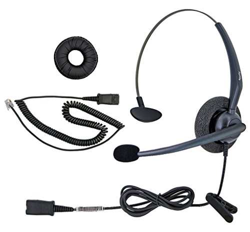 - DailyHeadset RJ9 NC Mono Office Phone Corded Headset for Analog IP Office Landline Phone Aastra Avaya Nortel Digium Polycom Mitel ShoreTel Packet 8 AltiGen TalkSwitch Telephones