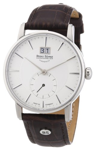 - Bruno Söhnle Men's Analogue Quartz Watch with Leather Strap - 17-13055-241