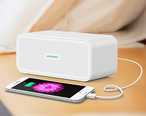 JAVONTEC Portable White Noise Sound Machine with 6 Nature Sounds. Sleep Therapy System with USB Charging, Headphone Jack and Timer, Adaptor and AA Battery