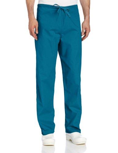 Caribbean Blue Unisex Reversible Scrub - Landau Comfort Stretch One-Pocket Reversible Drawstring Scrub Pant, Caribbean Blue, X-Large