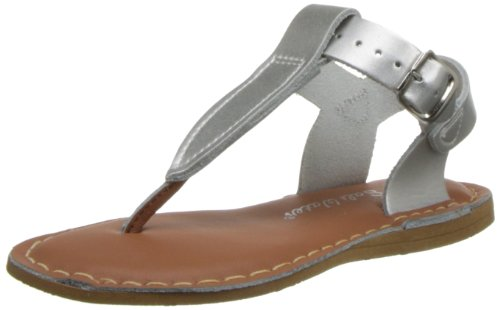 Kids Thongs (Salt Water Style 200 T-Thong Sandal,Silver,1 M US Little Kid)