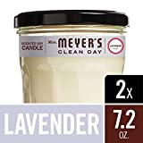 Mrs. Meyer's Clean Day Scented Soy Candle, Large Glass, Lavender, 7.2 oz, (Pack of 2)