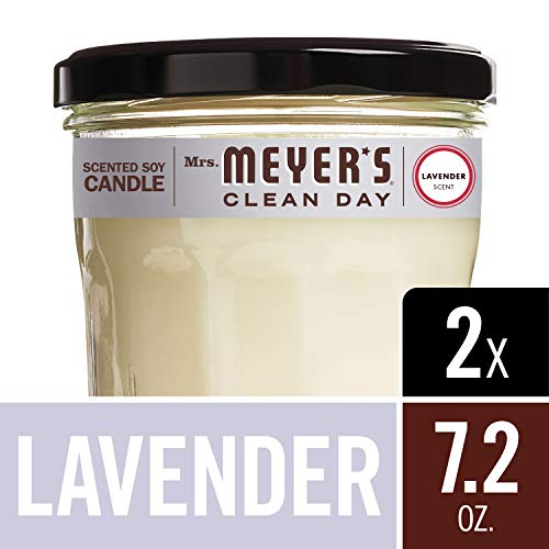 Mrs. Meyer's Clean Day Scented Soy Candle, Large Glass, Lavender, 7.2 oz, (Pack of - Candle Floral Soy