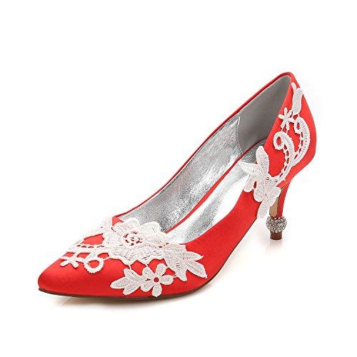 Zapatos De La Boda Qingchunhuangtang @ Punta De Boquilla De La Luz Grandes Astilleros De Tacones Altos Zapatos De Satén De Seda Partido De La Manera Zapatos De Señora Roja Precio barato genuino gdisR8ZoYG