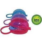 FLASH SALE Akeekah Pacifier Case & Nipple Shield Case 3 Pack, BPA Free Soothie Pacifier Holder with Free Mesh Sack