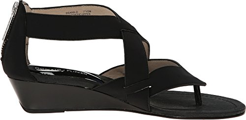 Donald J Pliner Dames Deann Zwart Crêpe Elastische Sandaal 8,5 M