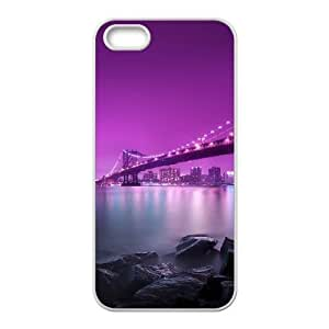 A Lonely Bench en Brooklyn Bridge iPhone 4 4S cell Phone Case White Zanq