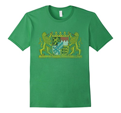 mens-vintage-bavaria-coat-of-arms-germany-t-shirt-2xl-grass