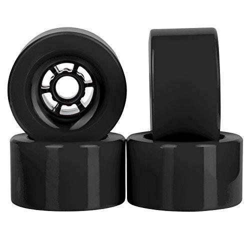 Cal 7 Polyurethane Skateboard Wheels for Longboard Cruiser 97x52mm 78A (Black)