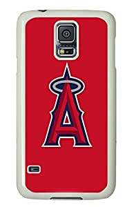 GOOD S5 Case, Galaxy S5 Case, Customize Baseball Los Angeles Angels Samsung Galaxy S5 Hard PC Plastic White Case Protective Shockproof Case Cover for New Galaxy S5