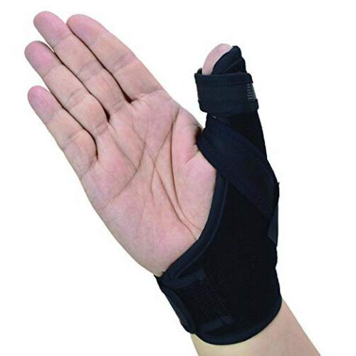 (Thumb Spica Splint- Thumb Brace for Arthritis or Soft Tissue Injuries, Lightweight and Breathable, Stabilizing and not Restrictive, a U.S. Solid Product (Small/Medium) )
