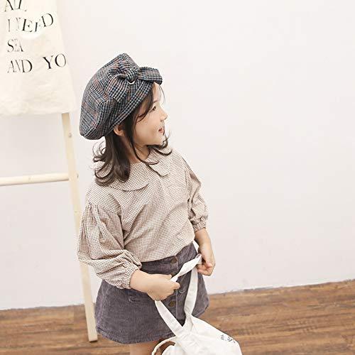 2018 Winter New Children's hat,Children's Children's Plaid Pumpkin hat Male Creative Baby Girl hat Child Baby Painter, Navy, 50CM Recommended 2 to 6 Years Old ()