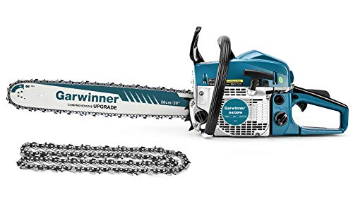 62cc Gas Powered Chainsaw 20 Inch 2 Stroke Handed Petrol Gasoline Chain Saw
