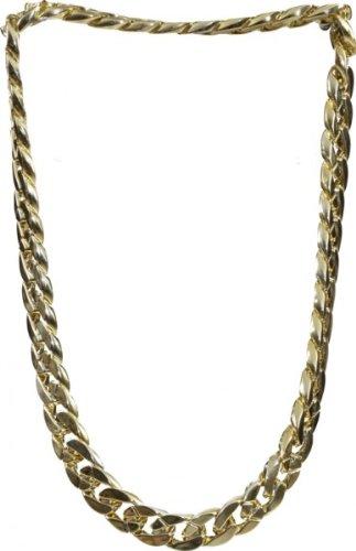 Fette goldkette  dicke Goldkette zum Pimp Rapper Kostüm an Karneval Fasching ...