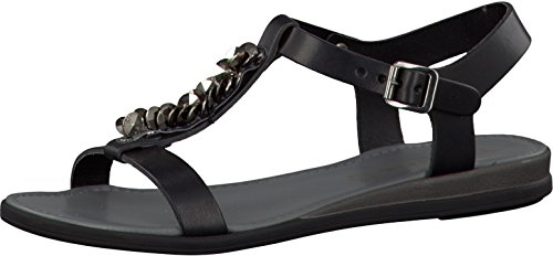 Tamaris 1-1-28135-24-001 - Sandalias de vestir de Piel para mujer Negro negro Negro