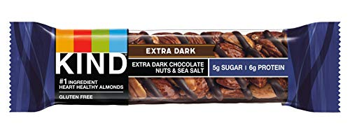 KIND Bars, Extra Dark Chocolate Nuts & Sea Salt, Low Sugar, Gluten Free Bars, 1.4 Ounce, 12 Count
