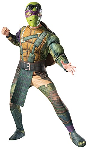 [Rubie's Costume Men's Teenage Mutant Ninja Turtles Movie Deluxe Adult Muscle Chest Donatello, Multicolor, Standard] (Turtle Shell Design Costume)