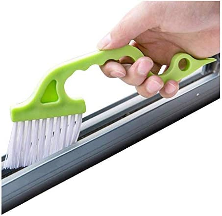 Creative Window Cleaning Supplies,Magic Window Cleaning Brush Tools for Various Groove Gap in Kitchen Bathroom,Dust and Stain Removal Product Kitchen Gadgets-Green