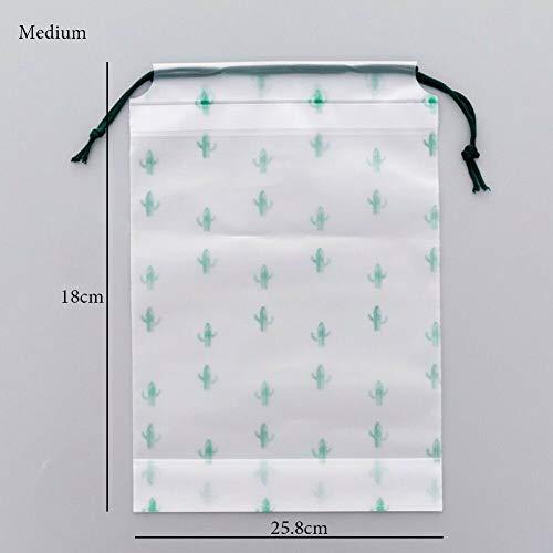 MOPOLIS S/M Durable Cactus Travel Makeup Case Zipper Storage Pouch Transparent Scrub Bag (Size - Medium) -