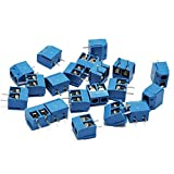 KeeYees 60pcs 5mm Pitch 2 Pin & 3 Pin PCB Mount