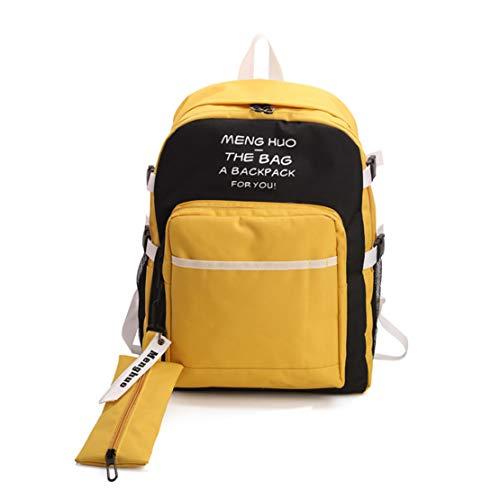 Fashion Mochilas Nailon Portatil Niña Impermeable Diario Amarillo Skitor Casual Escolares Pequeña Mujer Mochila Escolar Shopper YfxI7dw