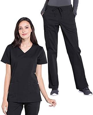 Cherokee Scrubs Set PROFESSIONAL V-Neck Top /& Waistband Pant WW655//WW160 Regular