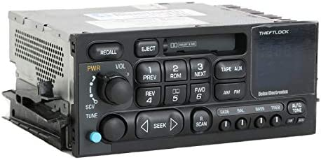 1 Factory Radio AM FM Cassette Radio w Bluetooth Upgrade Compatible With 1995-05 Chevrolet GMC Truck